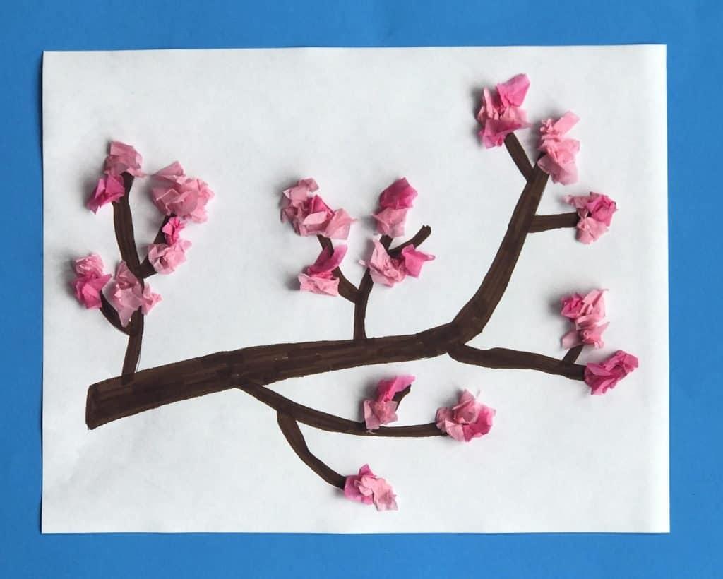 spring blossom, kids crafts, classroom crafts
